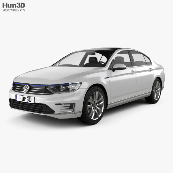 Volkswagen Passat (B8) sedan GTE 2015 3D model