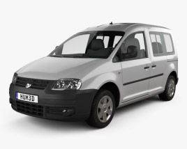 3D model of Volkswagen Caddy 2004