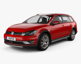 3D model of Volkswagen Golf Alltrack 2015