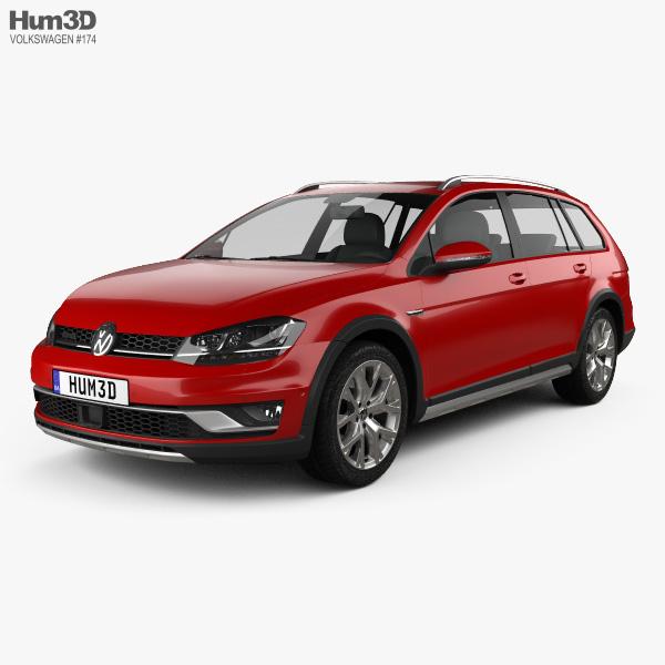 Volkswagen Golf Alltrack 2015 3D model