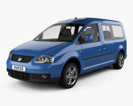 3D model of Volkswagen Caddy Maxi 2004