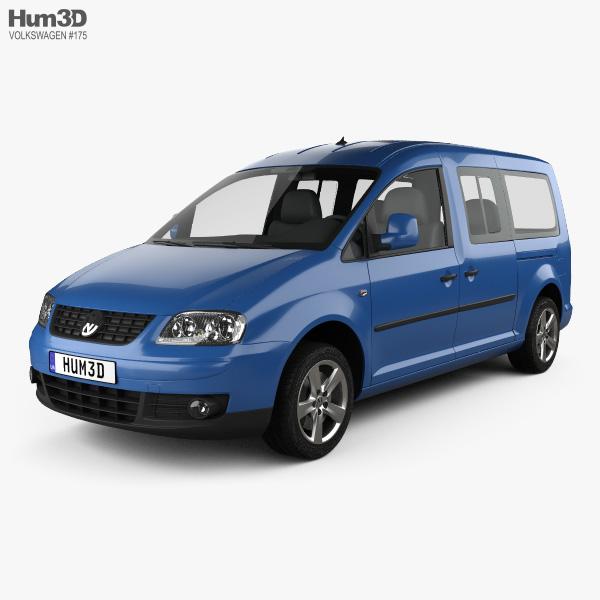 Volkswagen Caddy Maxi 2004 3D model