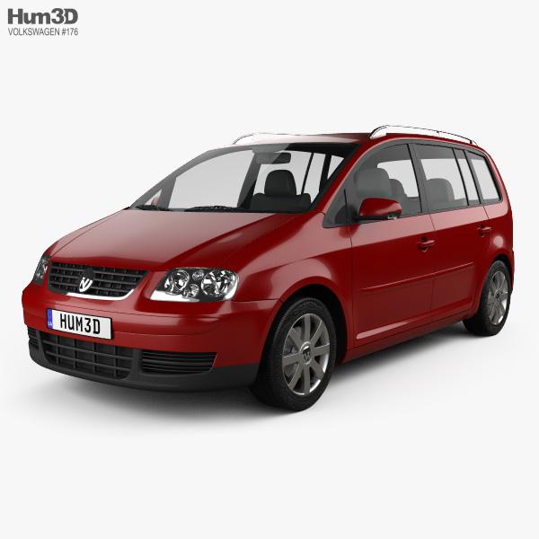 3D model of Volkswagen Touran 2003