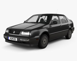 3D model of Volkswagen Jetta 1992