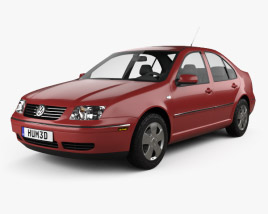 3D model of Volkswagen Jetta Sedan 2003
