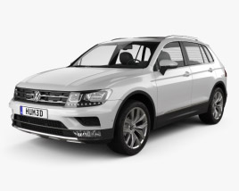 3D model of Volkswagen Tiguan Highline 2015