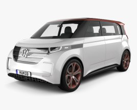 3D model of Volkswagen BUDD-e 2016