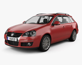 3D model of Volkswagen Golf Variant 2007