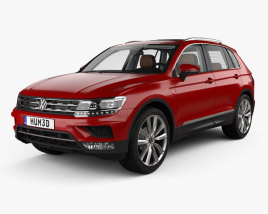 3D model of Volkswagen Tiguan with HQ interior 2015