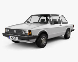 3D model of Volkswagen Jetta 2-door 1979