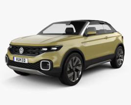 3D model of Volkswagen T-Cross Breeze Concept 2016