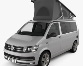 3D model of Volkswagen Transporter (T6) California 2016
