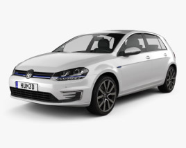 3D model of Volkswagen Golf GTE 2015