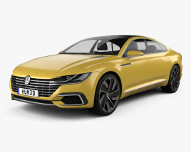 3D model of Volkswagen Sport Coupe GTE 2015