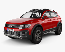 3D model of Volkswagen Tiguan GTE Active 2015