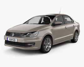 Volkswagen Polo Highline sedan 2015 Modèle 3D