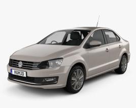 3D model of Volkswagen Vento 2016