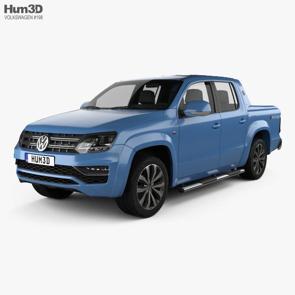3D model of Volkswagen Amarok Crew Cab Aventura 2016