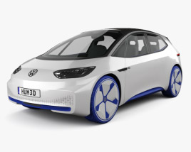 3D model of Volkswagen ID 2016