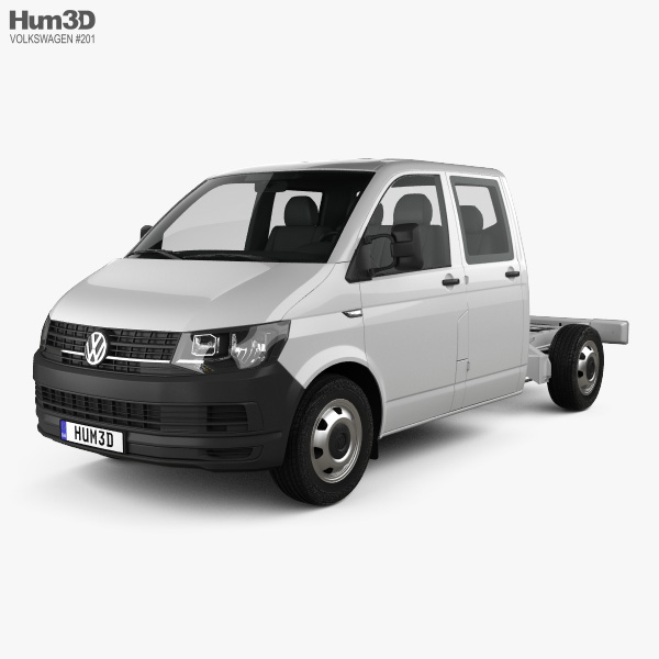 Volkswagen Transporter (T6) Double Cab Chassis 2016 3D model