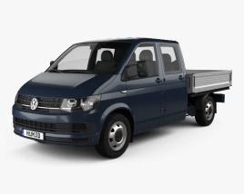 Volkswagen Transporter (T6) Double Cab Pickup 2016 3D model