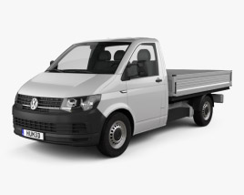 3D model of Volkswagen Transporter (T6) Single Cab Pickup L2 2016