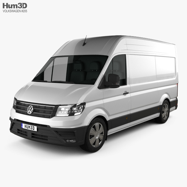 3D model of Volkswagen Crafter Panel Van L1H2 2017