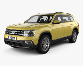 3D model of Volkswagen Atlas SEL 2018