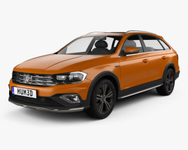 3D model of Volkswagen C-Trek 2016