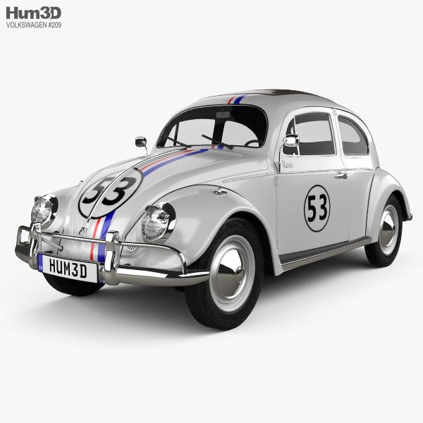 Volkswagen Beetle Herbie the Love Bug 1963 3D model