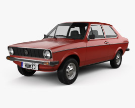 3D model of Volkswagen Derby 1977