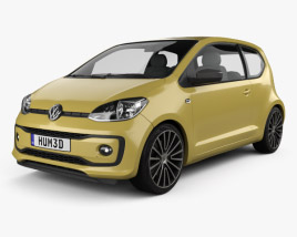 3D model of Volkswagen Up Style 3-door 2017