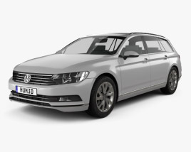 3D model of Volkswagen Passat (B8) Variant S 2014