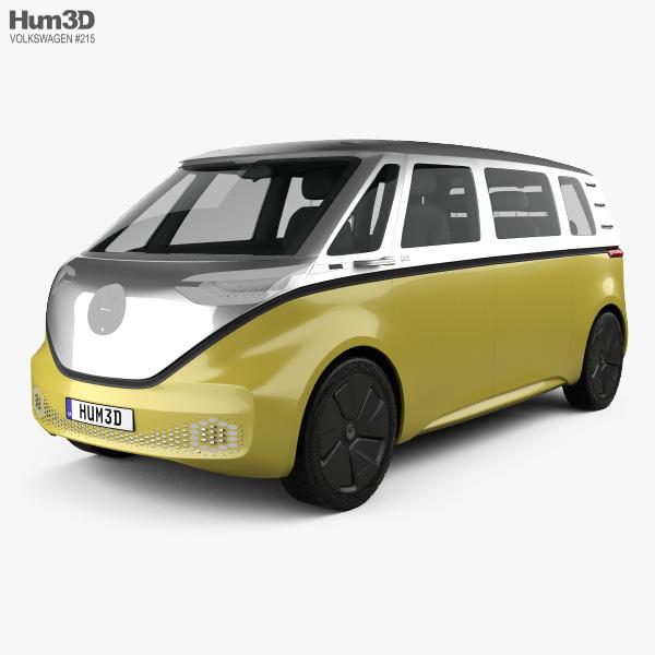3D model of Volkswagen ID Buzz 2017