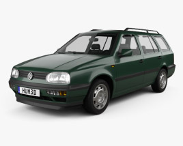 3D model of Volkswagen Golf Variant 1993