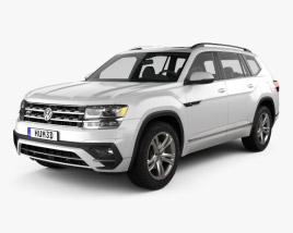 3D model of Volkswagen Atlas R-Line 2017