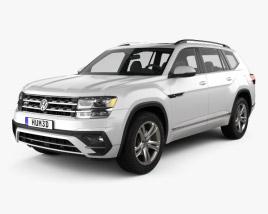 Volkswagen Atlas R-Line 2017 3D model