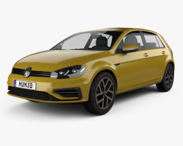 3D model of Volkswagen Golf R-Line 2017