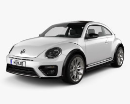 3D model of Volkswagen Beetle R-Line coupe 2016