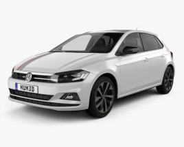 3D model of Volkswagen Polo Beats 5-door 2017