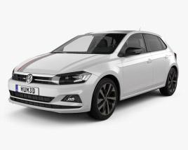 3D model of Volkswagen Polo Beats 5-door 2017