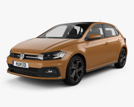 3D model of Volkswagen Polo R-Line 5-door 2017