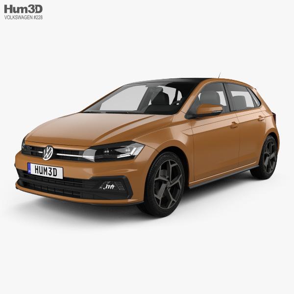 Volkswagen Polo R-Line 5-door 2017 3D model