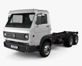3D model of Volkswagen Delivery (13-160) Chassis Truck 3-axle 2015
