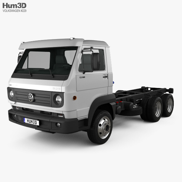 Volkswagen Delivery (13-160) Chassis Truck 3-axle 2015 3D model