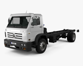 3D model of Volkswagen Worker (17-190) Chassis Truck 2-axle 2013