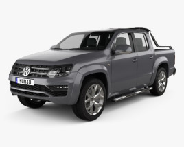 3D model of Volkswagen Amarok Crew Cab Ultimate 2016