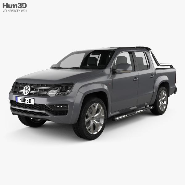 3D model of Volkswagen Amarok Crew Cab Ultimate 2016