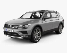 3D model of Volkswagen Tiguan Allspace 2017