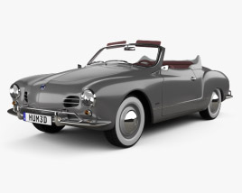 3D model of Volkswagen Karmann Ghia convertible 1958